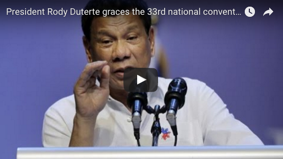President Rody Duterte graces the 33rd national convention of the Philippine Coast Guard Auxiliary