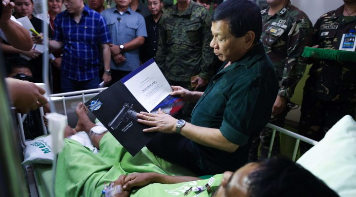 PRRD visits wounded soldiers in Metro Davao Medical Research Center