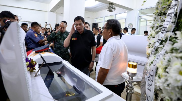 PRRD Visits Killed Police Officers in Dumaguete and Guihulngan