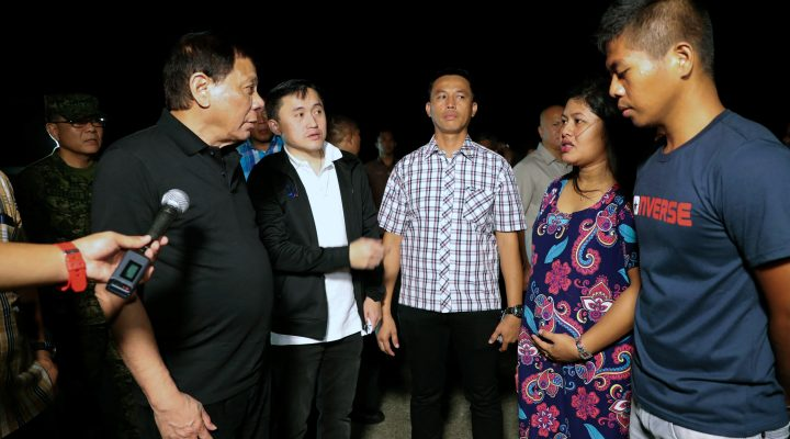 PRRD Checks Condition of Freed Police Officer