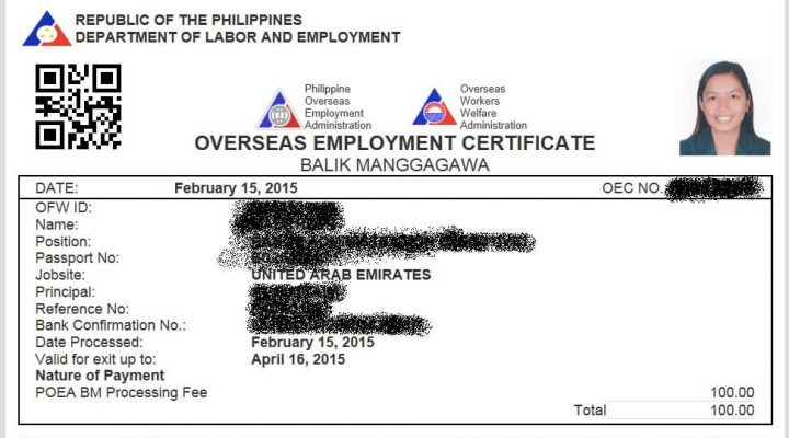 OFW ID ng DOLE, papalit sa employment certificate