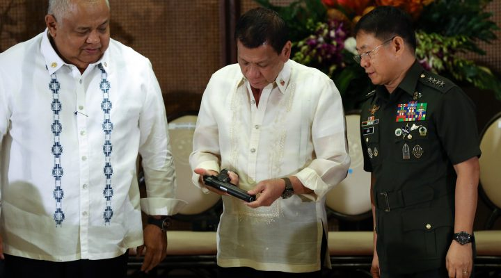 PRRD, leads ceremonial turnover of firearms to the AFP
