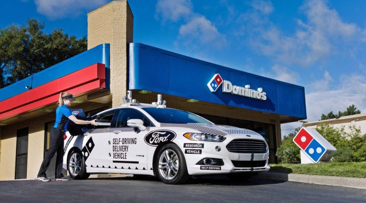 'Driverless cars', sinubukan ng Ford at Domino Pizza