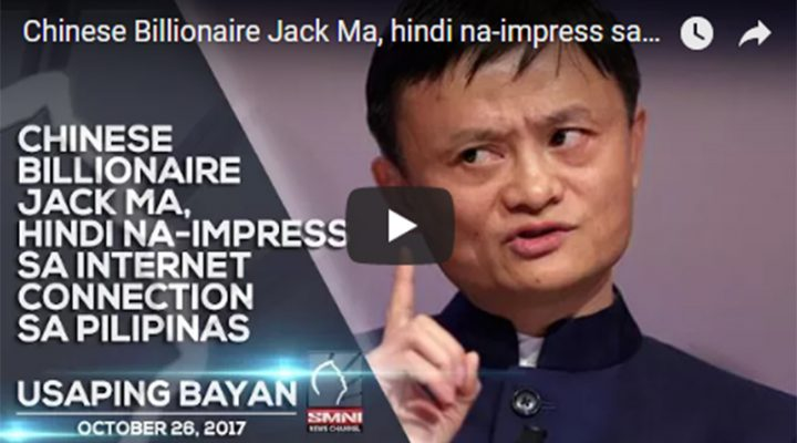 Chinese Billionaire Jack Ma, hindi na-impress sa internet connection sa Pilipinas
