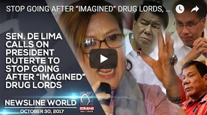 "Sen. De Lima Calls on Pres. Duterte to Stop going after ""Imagined"" Drug Lords"