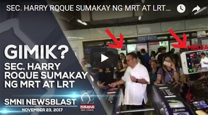 Sec. Harry Roque sumakay ng MRT at LRT