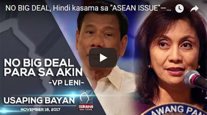 No Big Deal para sa akin – VP Leni