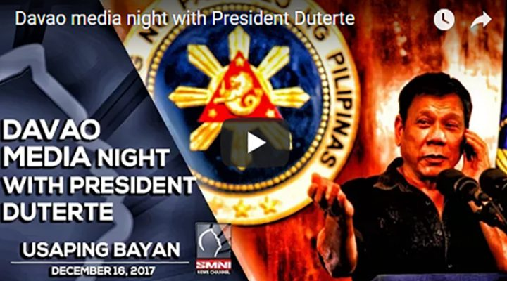 Davao media night with President Duterte