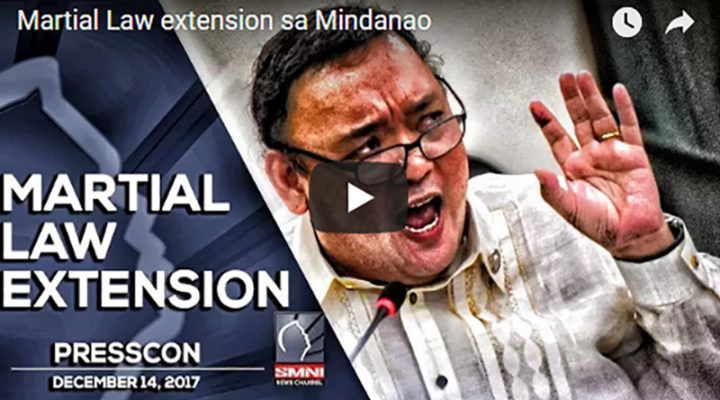 Martial law extension sa Mindanao