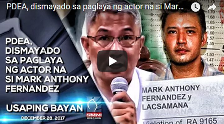PDEA, dismayado sa paglaya ng actor na si Mark Anthony Fernandez