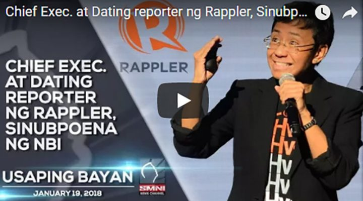 Chief Exec. at Dating reporter ng Rappler, Sinubpoena ng NBI