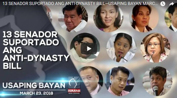 13 Senador suportado ang Anti-dynasty bill