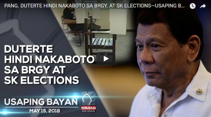 Duterte hindi nakaboto sa Brgy. at SK Elections