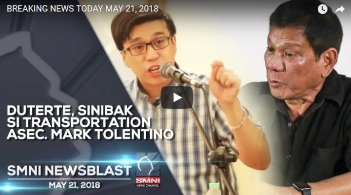 Duterte, sinibak si Transportation Asec. Mark Tolentino