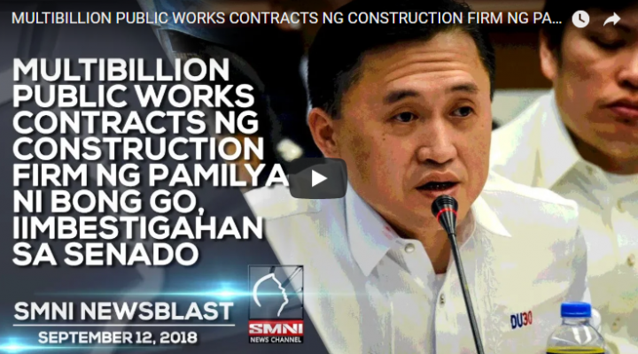 Multibillion Public Works contracts ng Constraction firm ng pamilya ni Bong Go, iimbestigahan sa Senado