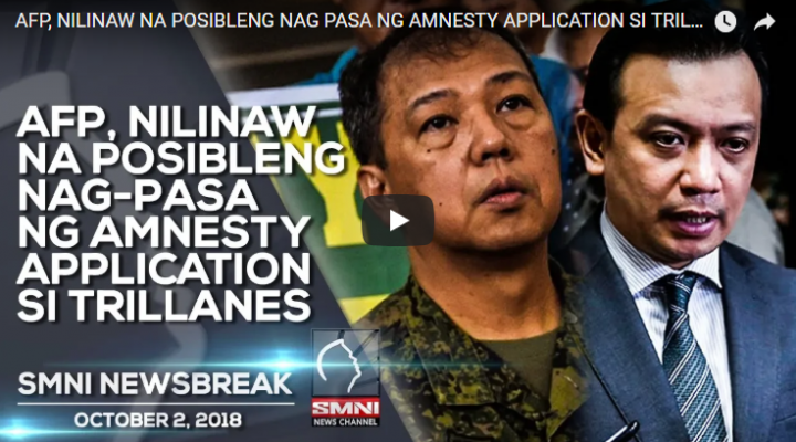 AFP, Nilinaw na posibleng nag-pasa ng amnesty application si Trillanes