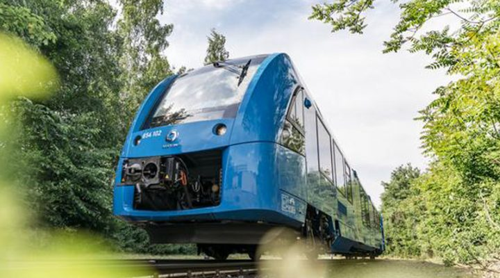 Kauna-unahang hydrogen train lumarga sa Germany