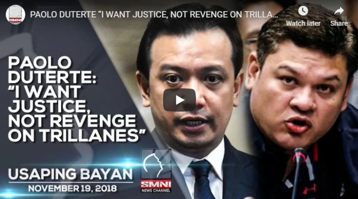 "Paolo Duterte: ""I want justice, not revenge on Trillanes"""