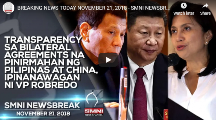 Transparency sa bilateral agreements na pinirmahan ng Pilipinas at China, ipinanawagan ni VP Robredo