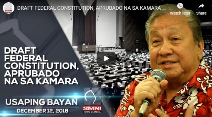 Draft Federal Constitution, aprubado na sa Kamara