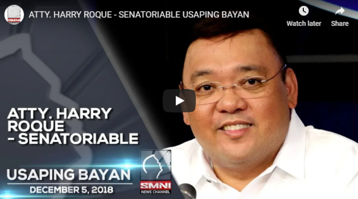 Atty. Harry Roque – Senatoriable