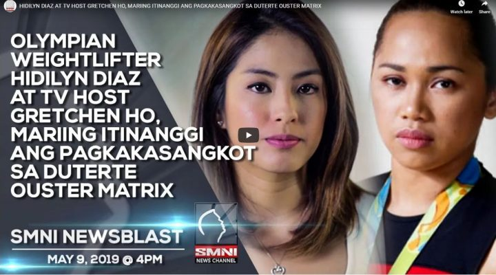 Olympian Weightlifter Hidilyn Diaz at TV host Gretchen Ho, mariing itinanggi ang pagkakasangkot sa Duterte Ouster Matrix