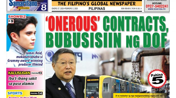 'Onerous' contracts, bubusisiin ng DOF