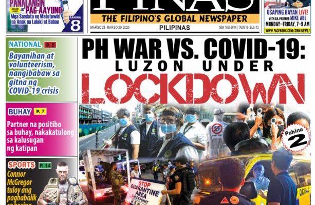 PH war vs. COVID-19: Luzon under lockdown