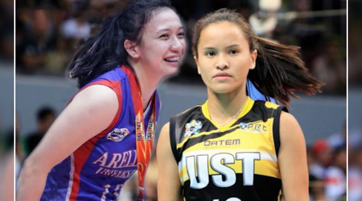 Sisi Rondina at Regine Arocha, Volleyball Players of the Year