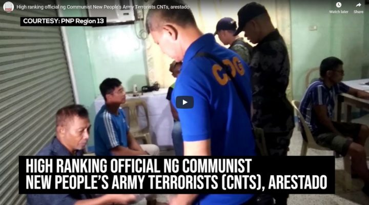 High ranking official ng Communist New People's Army Terrorists (CNTS), arestado