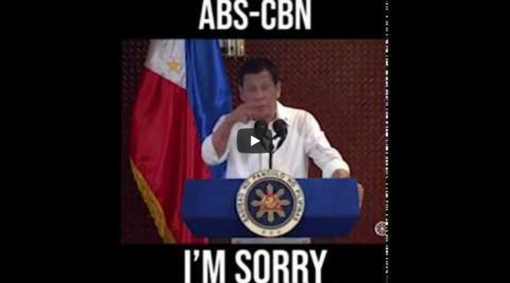 """PRES. DUTERTE to ABS-CBN: """"I'M SORRY, YOU'RE OUT!"""""""