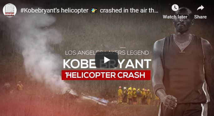 #Kobebryant's helicopter 🚁 crashed in the air that resulted in his death