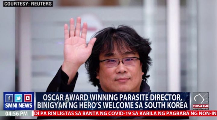 Oscar Award Winning Parasite director, binigyan ng hero's welcome sa South Korea
